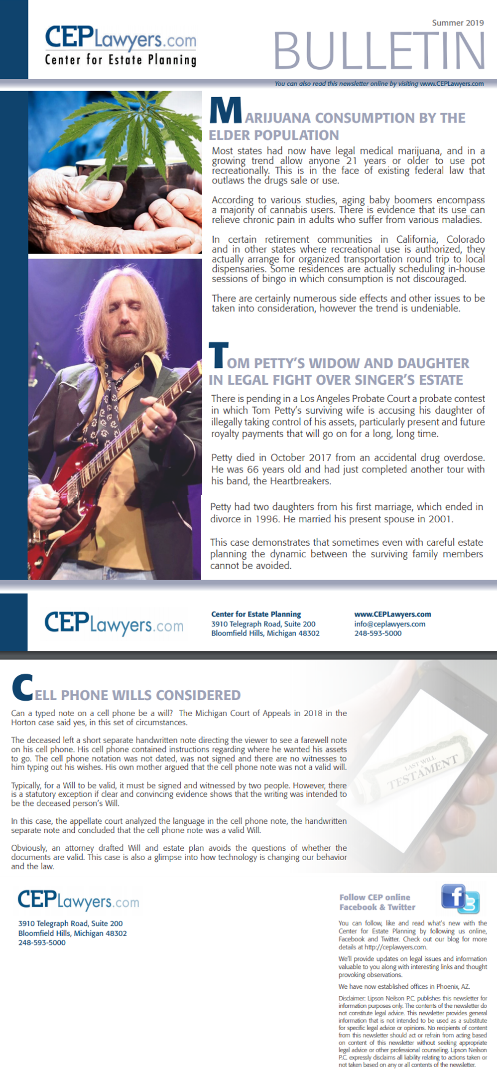 CEP Summer 2019 Newsletter